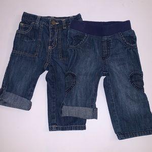 Old Navy Girls Elastic Wst Convertible Jeans/Capri